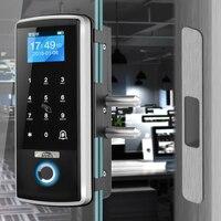 Smart Door Lock Fingerprint Electronic Digital Gate Opener Electric RFID Biometric finger print security Glass Password Card