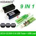 9 En 1 QC2.0 3,0 MTK-PE 3,6 ~ 32 V USB Digital tester DC voltímetro actual medidor de voltaje amp voltammeter amperimetro detector de carga
