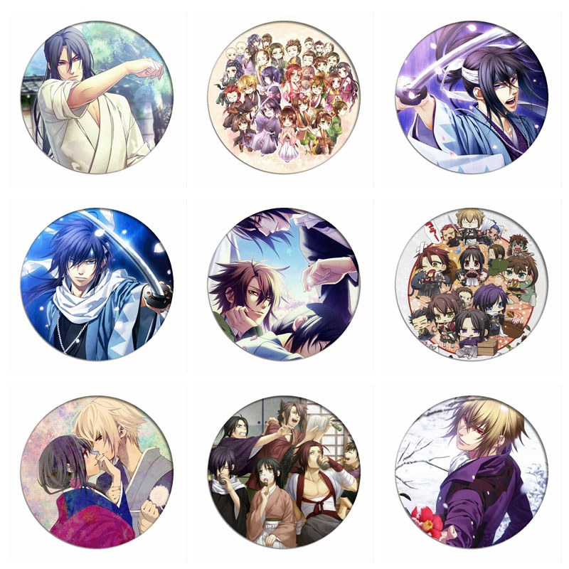 1pcs Hakuouki Shinsengumi Kitan Cosplay Badge Yukimura Jiziru Brooch Cute Pins Collection Bags Badges For Backpacks Clothes