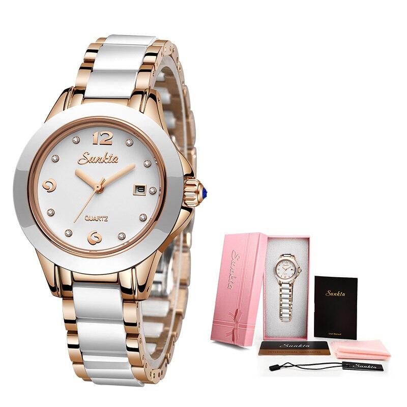 SUNKTA New Rose Gold Watch Women Quartz Watches Ladies Top Brand Luxury Female Wrist Watch Girl Clock Wife gift Zegarek Damski 6