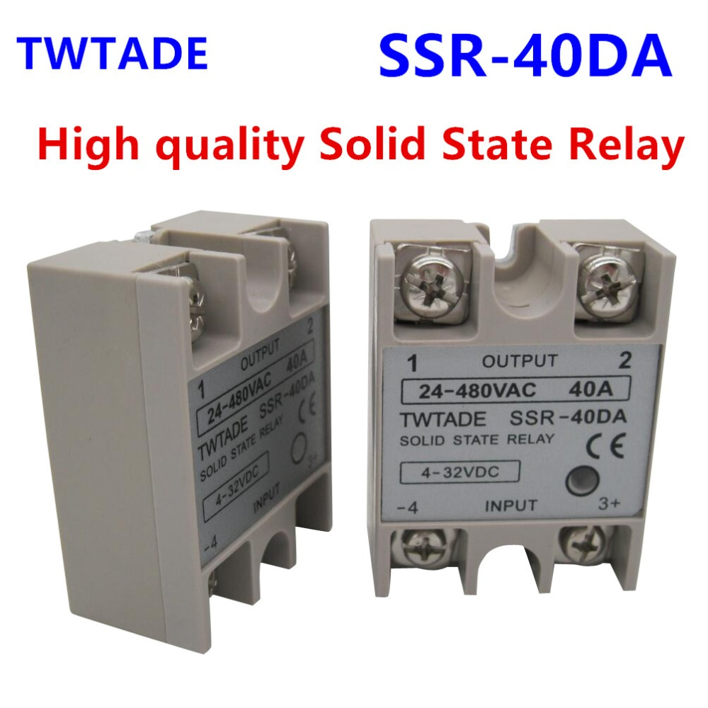 TWTADE/ High-quality Single Phase Solid State Relay <font><b>SSR</b></font>-40DA 40A Module 3-32V DC To 24-480V AC <font><b>SSR</b></font>-<font><b>40</b></font> <font><b>DA</b></font> <font><b>SSR</b></font> 40A image