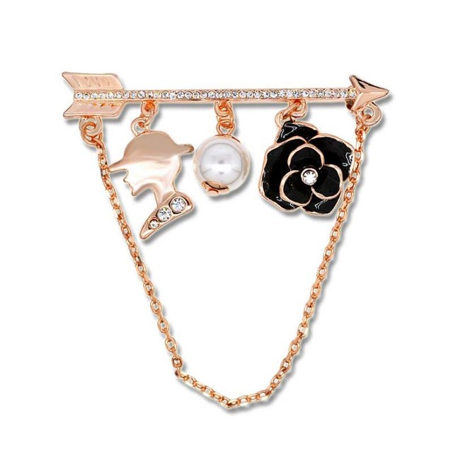 4509bffc6a0 flower pin brooch arrow broches fashion pins and brooches for women spille  donna simulated pearl jewelry