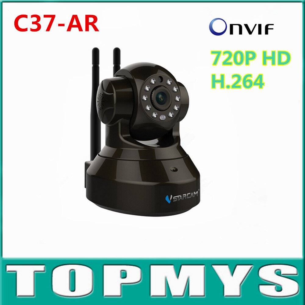VStarcam IP camera C37-AR 720P HD IR Mini Dome PT Alarm ip camera use for GAS/Door/PIR /Smoke Detector wireless Camera