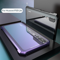 For Huawei P20 Lite Case Protective Aircraft Bumper Metal Screw Cell Phone Case For P20 With