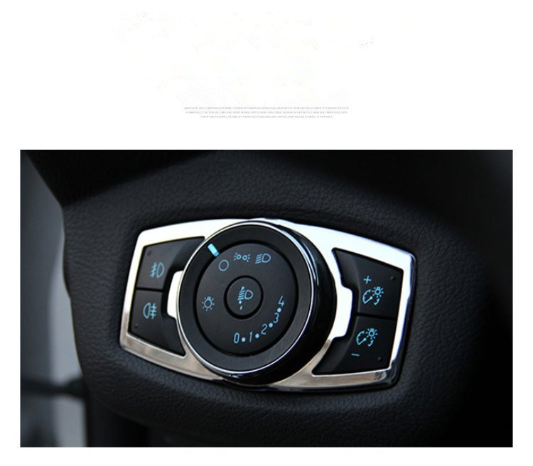 HEAD LIGHT HEADLIGHT LAMP SWITCH BUTTON PANEL CHROME COVER TRIMFOR FORD FOCUS KUGA ESCAPE 2012 2013 2014 2015