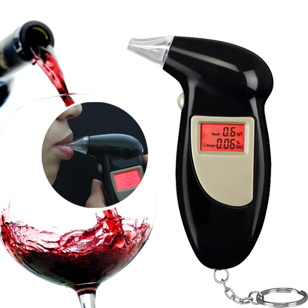 Catena Chiave di promozione Professionale Breath Polizia Digital Alcohol Tester Etilometro Analyzer Detector Audio Alert Spedizione Gratuita