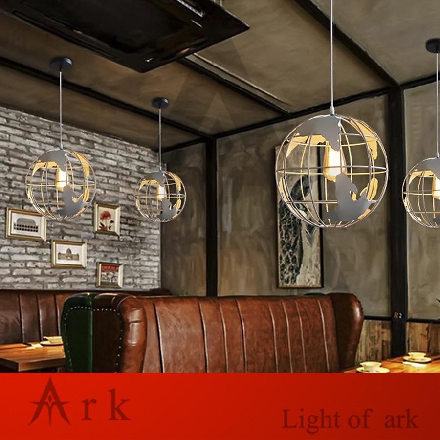 Modern Global Earth Shape Lustre Pendant Lights Living Room Pendant Lamps Restaurant suspension luminaire Home Lighting Fixtures in Pendant Lights from Lights Lighting