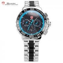 eee7b522efeb Blacknose SHARK Reloj Deportivo Azul Banda de Acero Inoxidable Militar  Impermeable al Agua 6 Manos Fecha Día Pantalla Movimiento.
