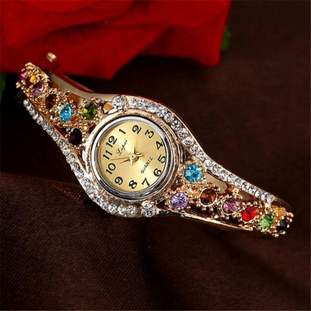 Lvpai Women Watches 2018 Rhinestone Bracelet Wristwatches Fashion Classic Ladies Watches Luxury Vintage Wrist Dress Quartz Watch