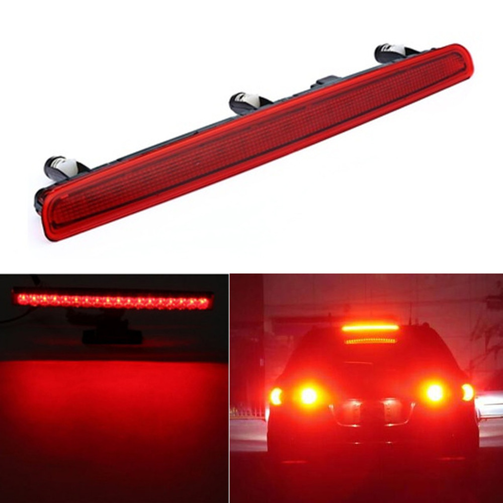 1pcs Car Auto High Level Additional Brake Light For Volkswagen Multivan T5 2003 2010 7E0945097A dropshipping With Red Lens in Car Light Assembly from Automobiles Motorcycles