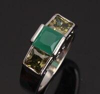 Impressive Green Emerald Olive Peridot 925 Sterling Silver Women S Fashion Jewelry For Women Rings Size