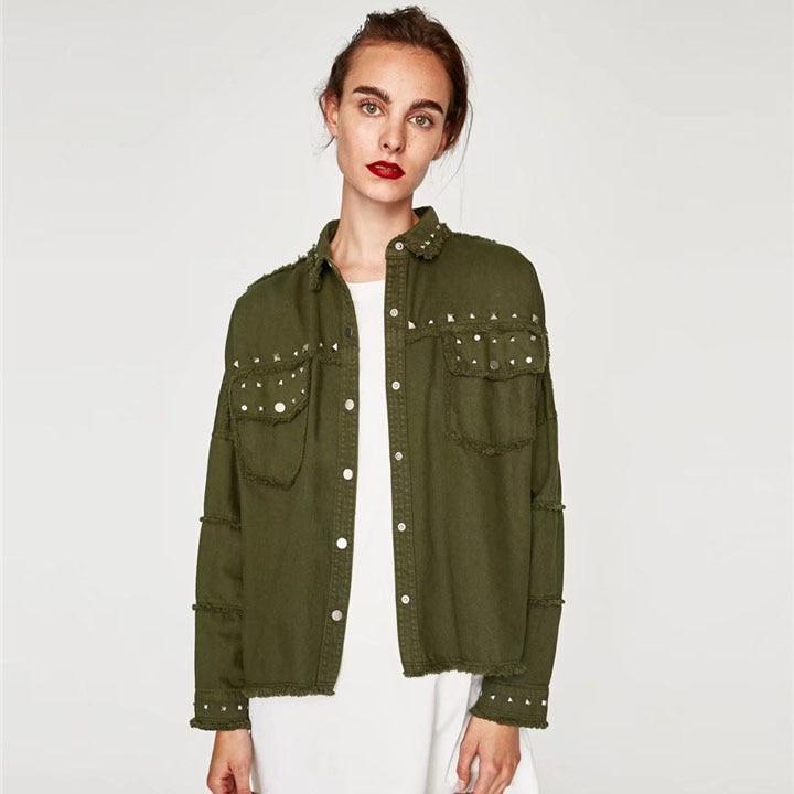 Basic Jackets Denim Jacket Fashion Jeans Coat Pink Denim Jacket For Girls Candy Color Coat Female 2018 Loose Tooling Green