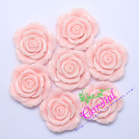 C ordialออกแบบ(F7) 50ชิ้น/ล็อต42มิลลิเมตรสีชมพูอ่อนสีเรซิ่นดอกกุหลาบลูกปัดสำหรับการตกแต่งเครื่องป...