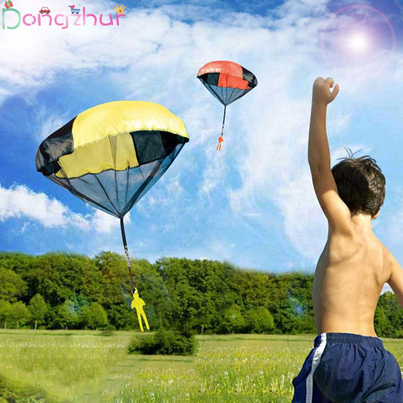 1pcs Hand Throwing Parachutes Kite Kids Mini Play Parachute Soldier Toy Propaganda Children's Outdoor Garden Sports Toys Kites