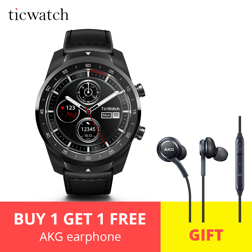 Original Ticwatch Pro Bluetooth Smart Watch IP68 support NFC Payments Google Assistant Wear OS by Google