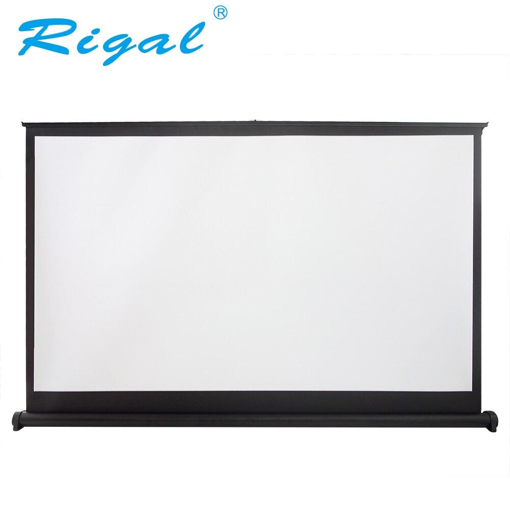 Rigal Projecteur Écran 40 50 pouce 16:9 Portable Mat Blanc Table De Projection Écran Pour Bureau Réunion D'affaires Formation