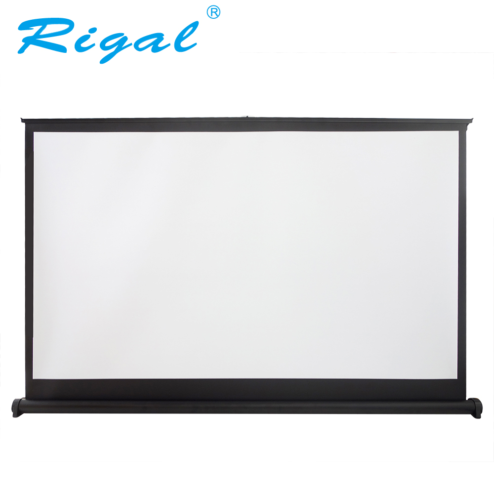 Rigal Projector Screen 40 50 inch 16:9 Portable Matte White Projection Hanging Table Screen For Office Business Meeting Training caiwei mini light tabletop screen hd matte white portable projector sccreen for business meeting office outdoor indoor movies