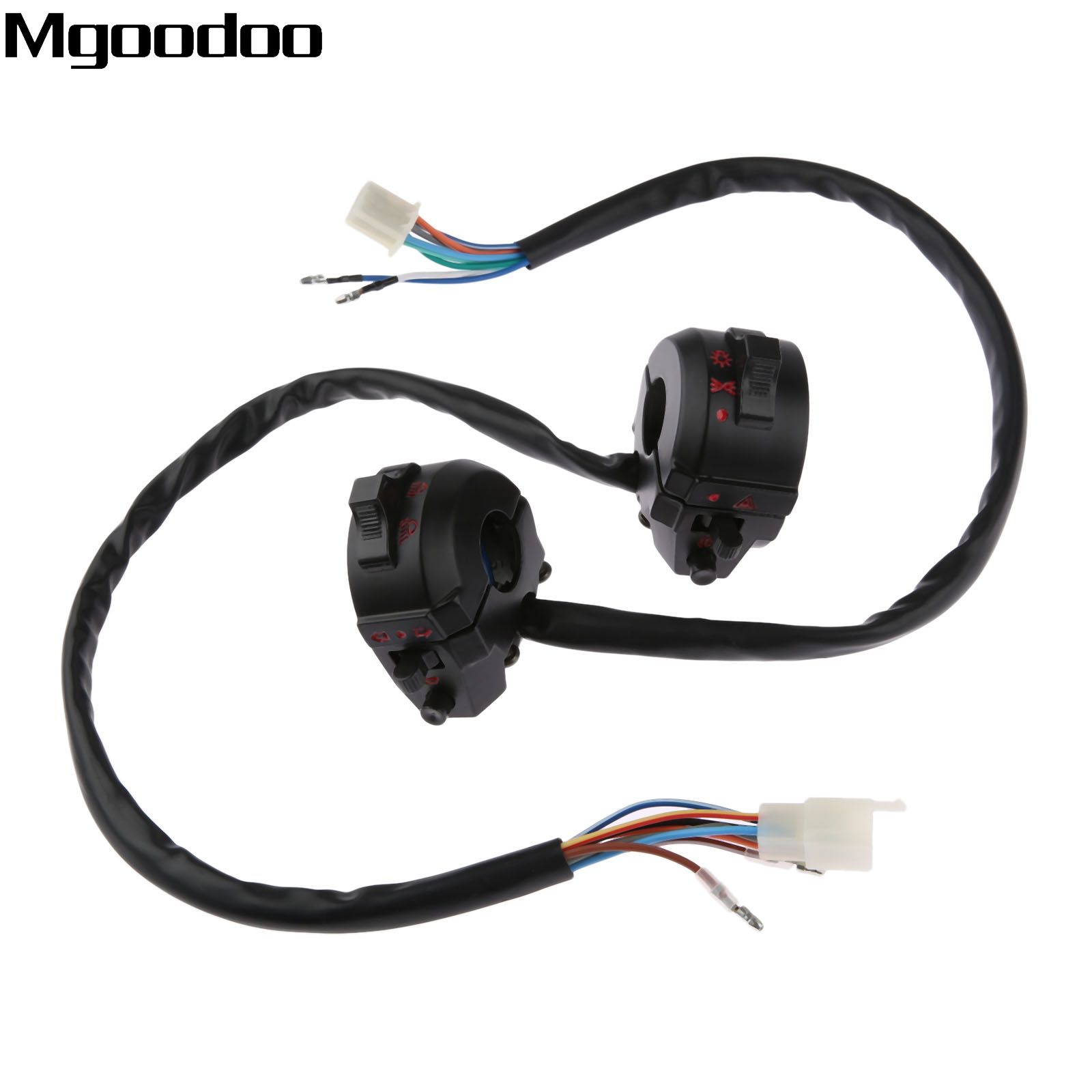 Motorcycle Handlebar Switch Control 2PCS Universal 7//8 Motorcycle Left /& Right Side Horn Turn Signal Light High//Low Beam Turn Signal Switch Control