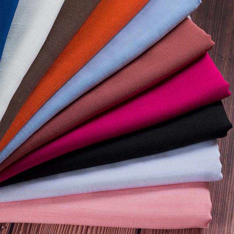 SMTA 50x155 см льняная ткань хлопок льняная занавеска мягкая Лоскутная Ткань хлопок и бамбук 220 г/м D20
