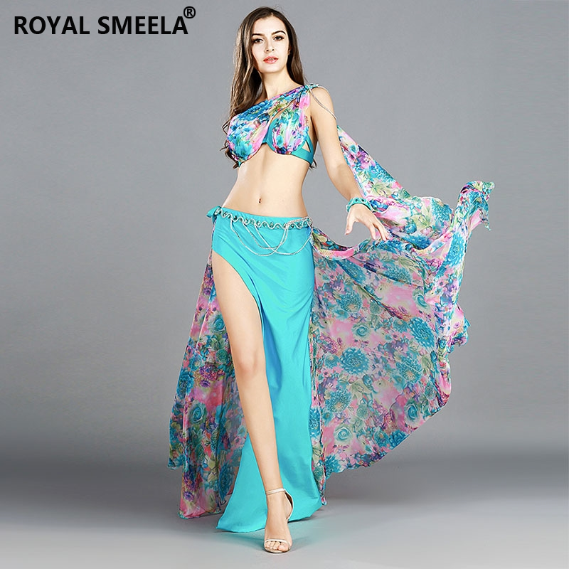 Image 4 - professional belly dance costume set 3 Colors bra+skirt+waist chain+armbands bellydance clothes outfit 8834-in Belly Dancing from Novelty & Special Use