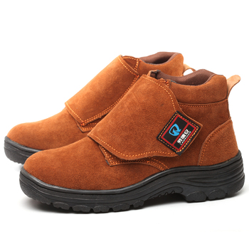 men's fashion plus size steel toe covers work safety shoes tooling security welding shoe cow suede leather platform ankle boots