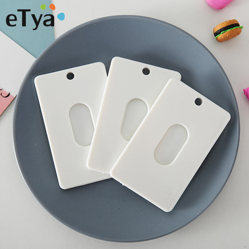 ETya Men Women Credit Card Holder Business ID Card Case Fashion DIY Student Kids Child Bus Card Holder Cover Bank Card Wallet
