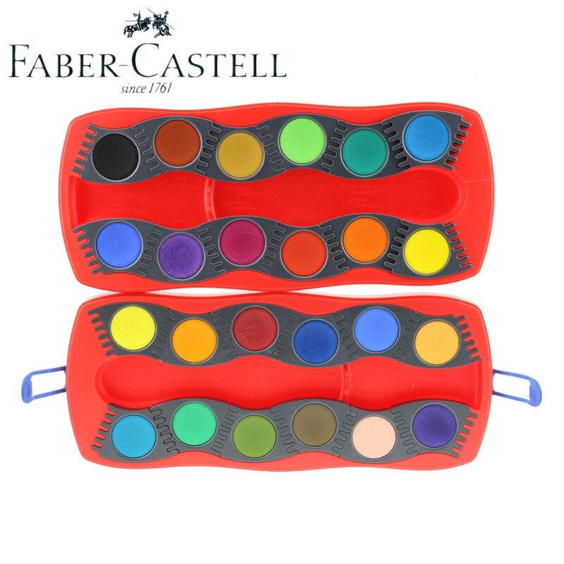 Livraison gratuite FABER CASTELL 24 couleurs enfants solide aquarelle pigment enfants cadeau