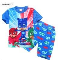 Children S Pajama Set Short Sleeve Pijamas Cartoon PJ MASKS Infantil Kids Boys Girls Sleepwear Summer