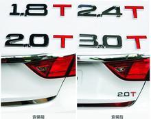 Professional car modification parts 1.8 2.0T 2.4T automotive metal displacement logo 3.0T digital conversion decorative stickers