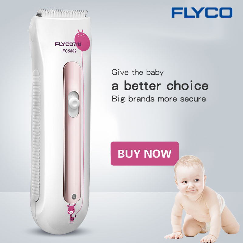 FLYCO professional Rechargeable Hair Clipper Hair Trimmer for baby Professional Haircut barbeador Machine for Baby Mute FC5802 professional rechargeable hair clipper trimmer with accessories set 220v