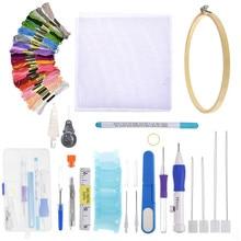 DIY Magie Stickerei Stitching Schlag Nadel Werkzeug Stitching Schlag Stift Mit Fall Sets DIY Handwerk Nähen Werkzeug aguja magica para bord