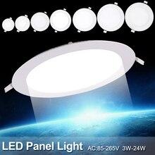 TSLEEN круглый встраиваемый потолочный светильник, светодиодный панельный светильник, домашнее/Коммерческое освещение, 4 Вт, 9 Вт, 12 Вт, 24 Вт, Холодный/теплый белый светодиодный светильник
