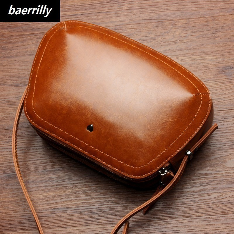 New Women's Handbag Oil Wax Genuine Leather Women Bags Handbags Women Famous Brands Big Casual Tote Bag Ladies Shoulder Bags new 2017 fashion brand genuine leather women handbag europe and america oil wax leather shoulder bag casual women bag