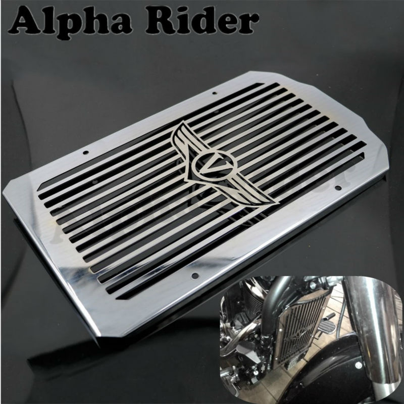 Motorcycle Radiator Cover Bezel Grille Guard Protector for Kawasaki VN900B Vulcan 900 Classic 2006 2014 13