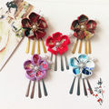 Японские кимоно Юката Гейша Цветок Цветочные Головные Уборы Зажим Для Волос Haripin Кисти