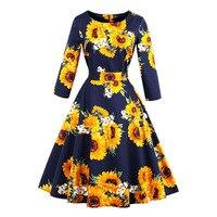 Sisjuly 1950s Vintage Dresses Autumn Knee Length Patchwork Elegant Party Dress Retro O Neck Women Pleated