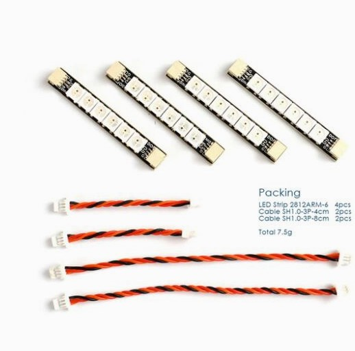 Matek system 2812 светодиодный пульт управления 2-6 S светодиодный модуль управления с 5 V BEC 2812 светодиодный пульт управления и 2812ARM-4 свет 2812ARM-6 светодиодный