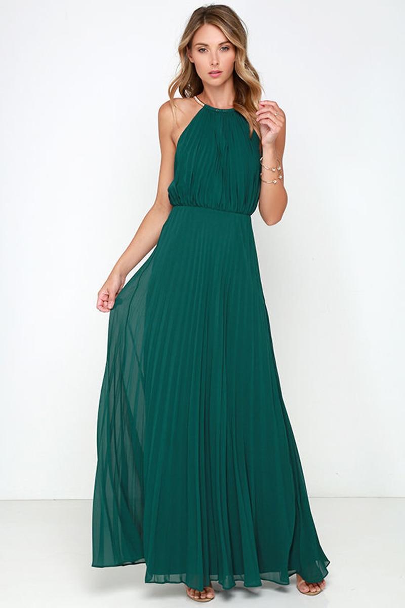 Fashion Women Summer Sexy Halter Neck Solid Sleeveless -9649