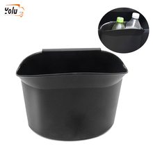 YOLU 1Pcs Auto Car Hanging Garbage Trash Rubbish Can Holder Dust Case Storage Organizer Black Accessories
