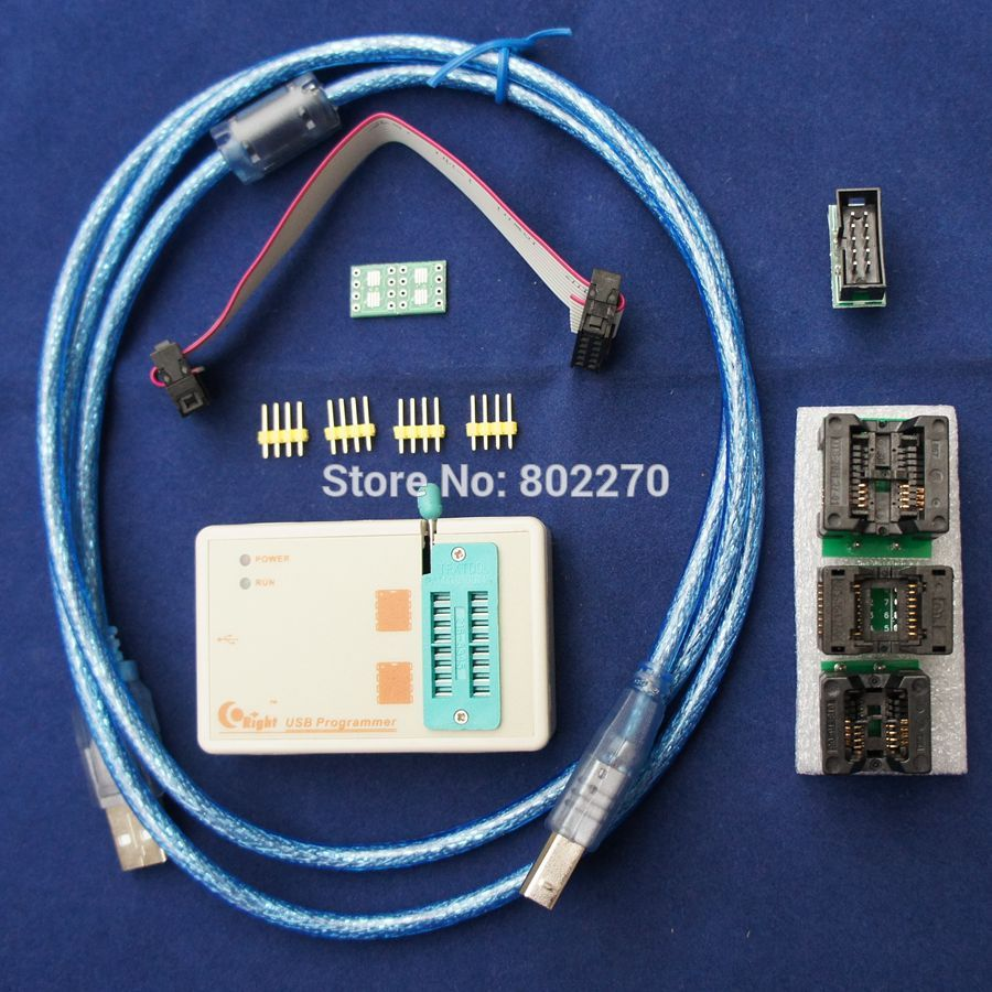 Skypro official version better than EZP2010 EZP2013 high-speed USB SPI Programmer 24 25 93 EEPROM 25 flash include 3 adapters