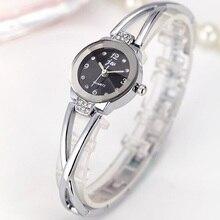 Cindiry Women's Ladies Rose Gold Silver Plated Rhinestone Bracelet Quartz Analog Wrist Watch for Women Gift P25