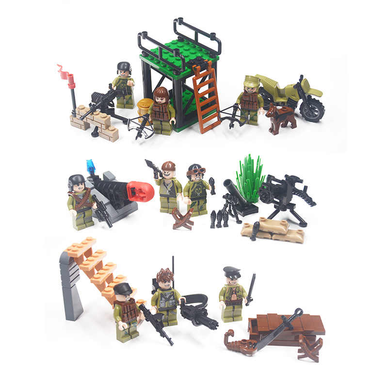 Military Weapon Building Blocks Brick Series Army Weapon Guns MOC Friends Compatible Legoing DIY Toy For Kids