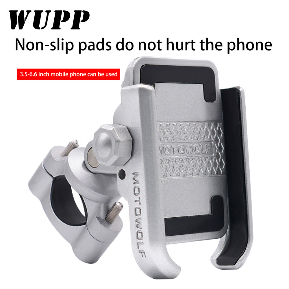 WUPP 2019 Motorcycle Phone Holder With USB Power Charger Mobile Cell Phone Mount Motorbike Mountain Bike Holder Moto Accessories