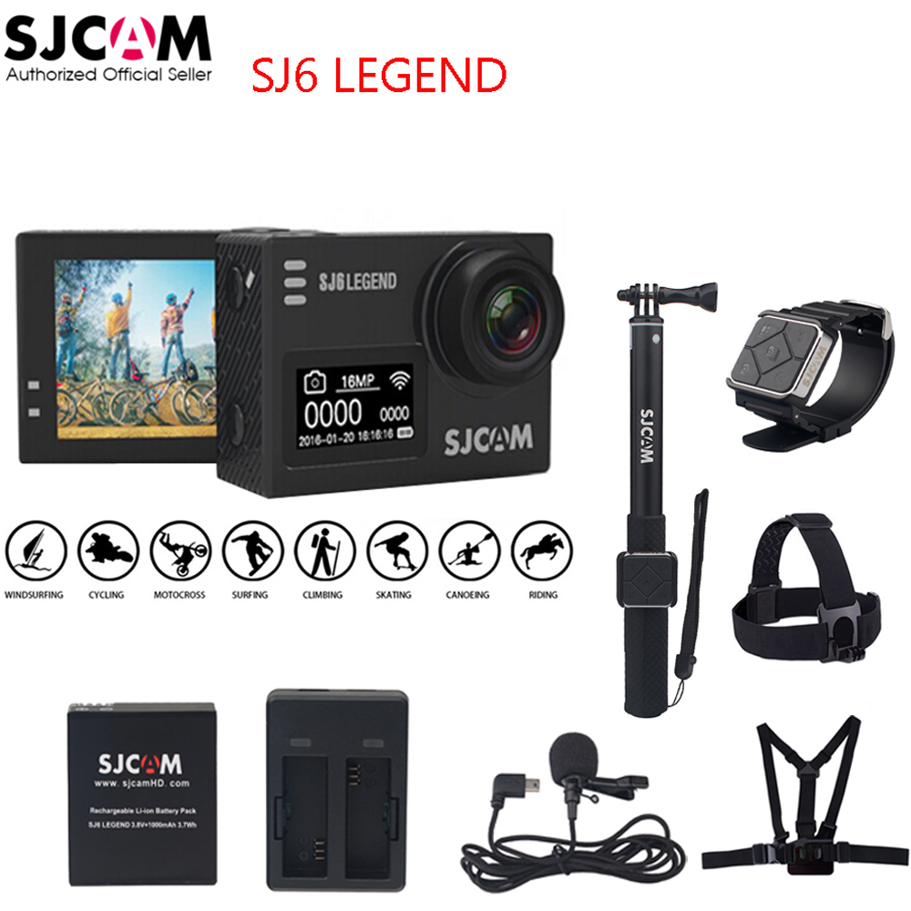 100% Original SJCAM SJ6 LEGEND 4K 24fps 2.0 Touch Screen Remote Ultra HD Notavek 96660 30M Waterproof Sports Action Camera DVR sjcam sj6 legend