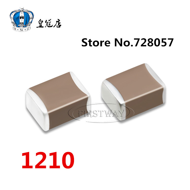 1210 100UF 107K 25V X7R  30pcs/lot Free shipping  SMD ceramic capacitors maitech 7 x 7mm 16v 100uf smd aluminum electrolytic capacitors silver black 10 pcs