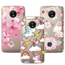 Cute Dog Case Fundas For Motorola Moto E4 Plus Soft TPU Flowers 3D Relief Lace C