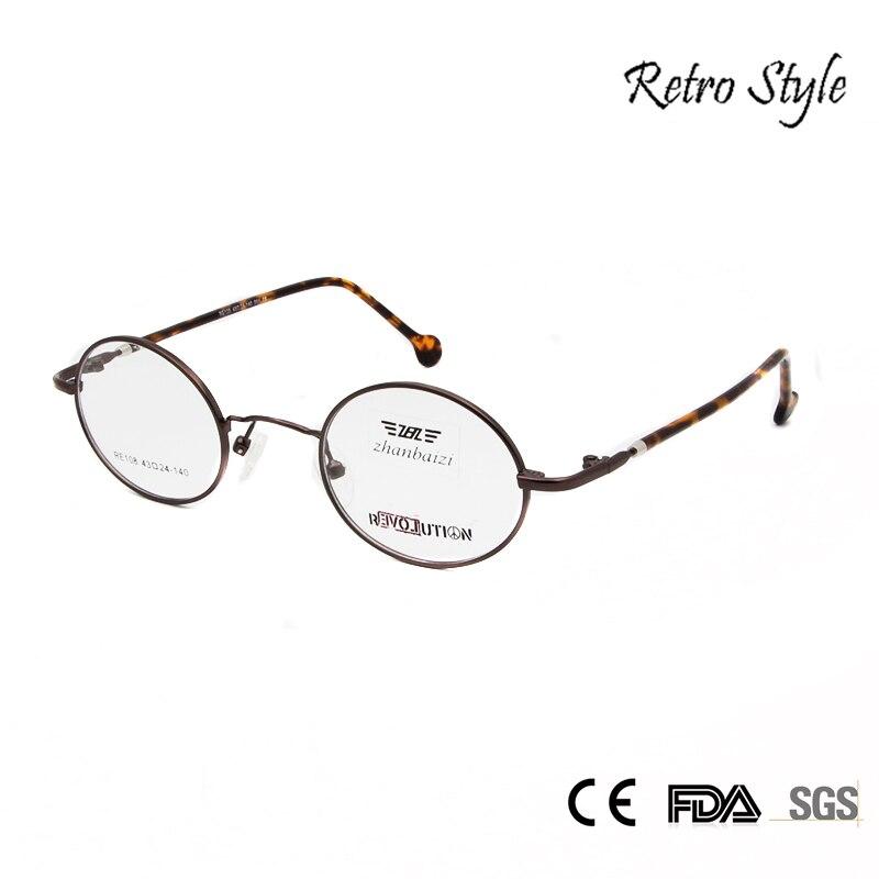 ZBZ Vintage Eyeglasses Men Small Round Metal Eye Glasses ...
