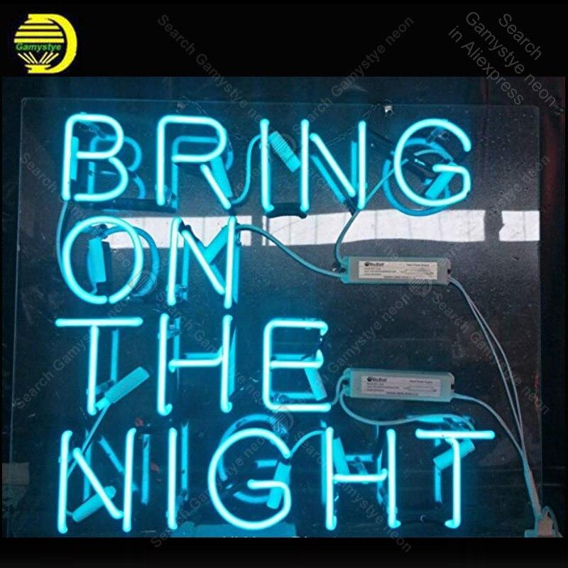 Enseigne au néon pour apporter la nuit ampoules au néon lampe de signe Tube de verre réel décorer salle de bière artisanat publicité néon personnalisé lumière