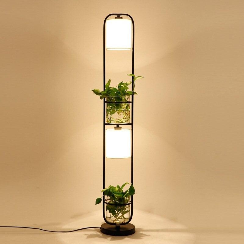 Lampe de table plante américaine plante en pot bar chambre lampe de chevet restaurant lampe de table personnalisée (sans plantes) LM5091146