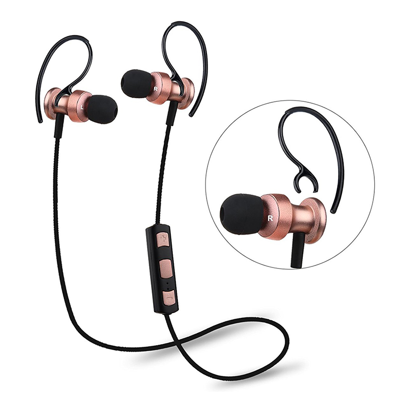 Oneodio In-ear Bluetooth Wireless Earphones Sport Running Headphone With Mic Rose gold Line Control Handsfree For Xiaomi Huawei